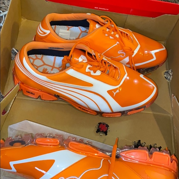 Puma Shoes   Puma Orange S2 Quill Golf